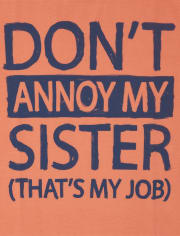 Boys Annoy My Sister Graphic Tee