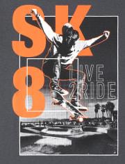 Boys Sk8 Graphic Tee