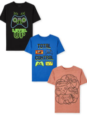 Boys Video Game Graphic Tee 3-Pack