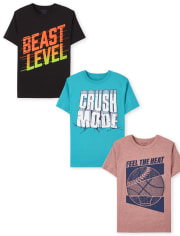 Boys Sports Graphic Tee 3-Pack