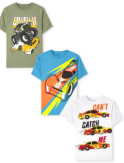 Boys Cars Graphic Tee 3-Pack