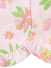 Baby Girls Tropical Ruffle Shorts 3-Pack