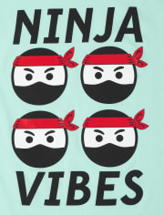 Boys Ninja Vibes Graphic Tee