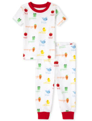 Unisex Baby And Toddler Education Snug Fit Cotton Pajamas