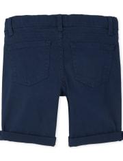Girls Roll Cuff Twill Skimmer Shorts
