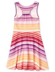 Girls Striped Racerback Dress