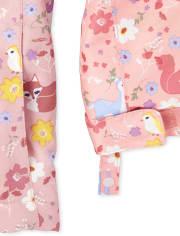 Toddler Girls Print 3 In 1 Jacket
