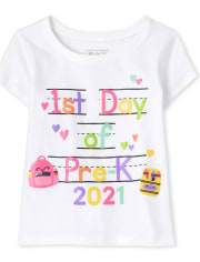 Baby And Toddler Girls Pre-K Graphic Tee