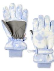 Girls Tie Dye Ski Gloves