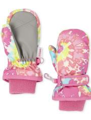 Toddler Girls Tie Dye Ski Mittens