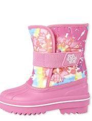 Toddler Girls Tie Dye Snow Boots