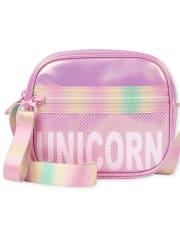 Girls Unicorn Iridescent Bag