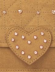Girls Heart Studded Bag