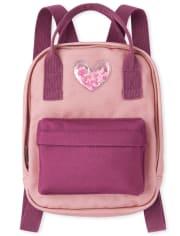 Girls Shakey Heart Mini Backpack