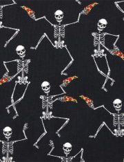 Unisex Kids Glow Dancing Skeleton Snug Fit Cotton Pajamas