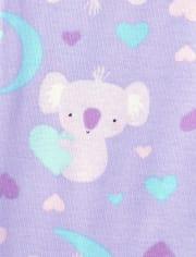 Girls Koala Snug Fit Cotton Pajamas 2-Pack