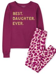 Girls Best Daughter Snug Fit Cotton Pajamas