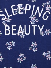 Girls Floral Beauty Snug Fit Cotton Pajamas