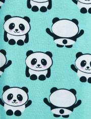 Girls Unicorn Panda Snug Fit Cotton Pajamas 2-Pack