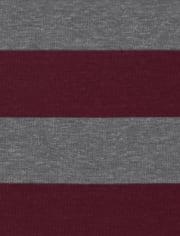 Boys Plaid Striped Snug Fit Cotton Pajamas 2-Pack