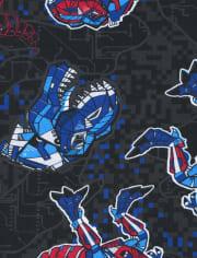 Boys Robot Dino Pajamas