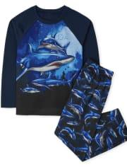 Boys Shark Pajamas