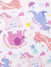 Baby And Toddler Girls Animals Snug Fit Cotton Pajamas 2-Pack