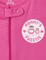Baby And Toddler Girls Breakfast Snug Fit Cotton One Piece Pajamas 2-Pack