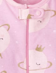 Baby And Toddler Girls Planets Snug Fit Cotton One Piece Pajamas 2-Pack