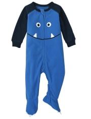 Baby And Toddler Boys Monster Fleece One Piece Pajamas