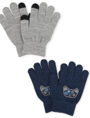 Boys Gamer Texting Gloves 2-Pack
