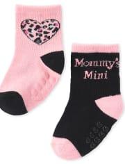 Baby Girls Leopard Midi Socks 6-Pack