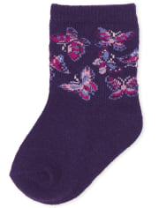 Baby Girls Butterfly Midi Socks 6-Pack