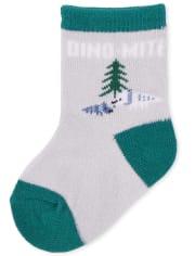 Baby Boys Dino Midi Socks 6-Pack