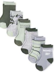 Baby Boys Camo Midi Socks 6-Pack