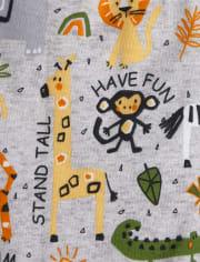 Unisex Baby And Toddler World Safari Snug Fit Cotton Pajamas 2-Pack