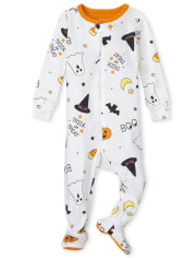 Unisex Baby And Toddler Halloween Snug Fit Cotton One Piece Pajamas
