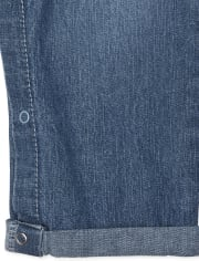 Baby And Toddler Girls Denim Overalls