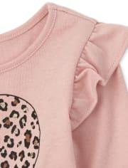 Toddler Girls Leopard Ruffle 4-Piece Set