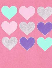 Toddler Girls Active Heart Tie Dye 2-Piece Set
