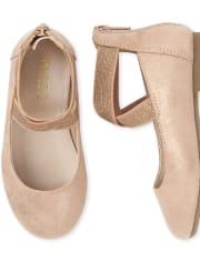 Toddler Girls Shimmer Wrap Ballet Flats