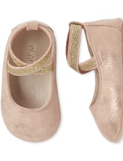 Baby Girls Shimmer Wrap Ballet Flats