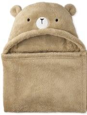 Unisex Baby Bear Cozy Hooded Blanket