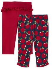 Baby Girls Apple Pants 2-Pack