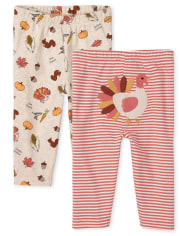 Unisex Baby Thanksgiving Pants 2-Pack