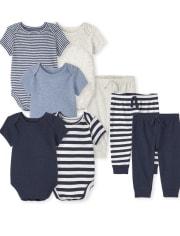 Baby Boys Striped 8-Piece Set