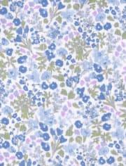 Baby Girls Floral Bodysuit 4-Pack