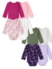 Baby Girls Bodysuit 8-Pack