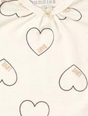 Baby Girls Heart Bodysuit 4-Pack