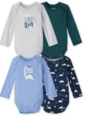 Baby Boys Dino Bodysuit 4-Pack